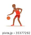 スポーツ バスケ バスケットボールのイラスト 35377292