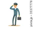 パイロット 操縦士 飛行士のイラスト 35377778