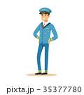 パイロット 操縦士 飛行士のイラスト 35377780