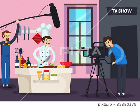 Cooking TV Show Orthogonal Composition 35380379