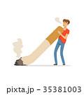 紙巻タバコ タバコ たばこのイラスト 35381003