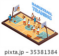 Training Basketball Isometric Composition 35381384
