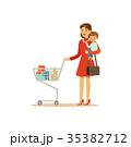 ショッピングカート 買い物カート ショッピングのイラスト 35382712