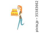 ケーキ ベクター 幸せのイラスト 35383662