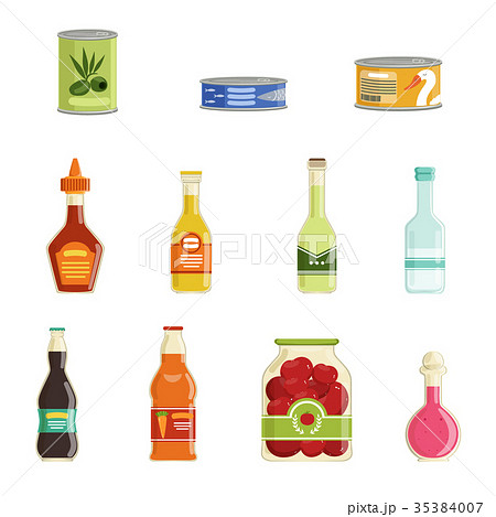 Canned goods vector set 35384007