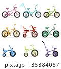 自転車 セット 組み合わせのイラスト 35384087