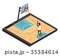 Pickup Ball Isometric Composition 35384614