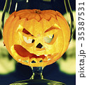Halloween pumpkin in the glass 35387531