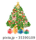 クリスマス クリスマスツリー ツリーのイラスト 35390109
