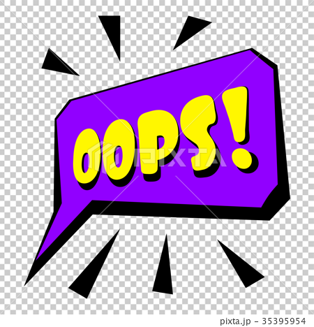 Oops sound effect icon, cartoon style 35395954