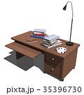 机 インテリア CGのイラスト 35396730