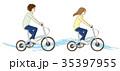 自転車 男女 カップルのイラスト 35397955
