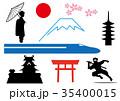 日本 日本イメージ 観光のイラスト 35400015
