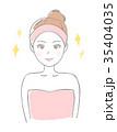 美容 ビューティー 女性のイラスト 35404035