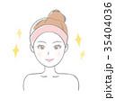 美容 ビューティー 女性のイラスト 35404036