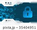 ネットワーク 通信 錠のイラスト 35404951