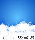 Cloud theme vector background. 35406185