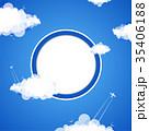 Cloud theme vector background. 35406188
