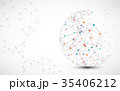 Abstract technology sphere background.  35406212