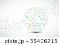 Abstract technology sphere background.  35406213