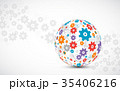 Abstract technology sphere background.  35406216