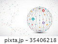 Abstract technology sphere background.  35406218