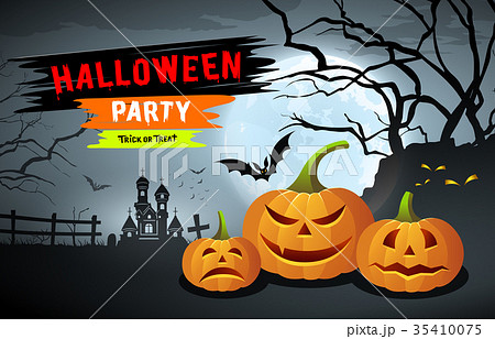 happy halloween party designのイラスト素材 35410075 pixta