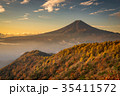 三つ峠 紅葉 富士山の写真 35411572