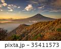 三つ峠 紅葉 富士山の写真 35411573