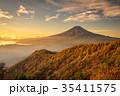 三つ峠 紅葉 富士山の写真 35411575