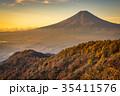 三つ峠 紅葉 富士山の写真 35411576