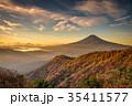 三つ峠 紅葉 富士山の写真 35411577