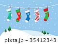 クリスマス 吊るす ハンギングのイラスト 35412343