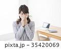 女性 ビジネスウーマン 体調不良の写真 35420069
