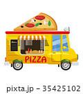 ピザ ピッツァ バンのイラスト 35425102