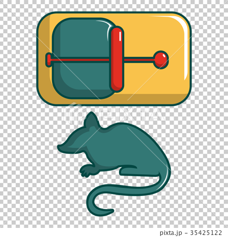 Mice trap icon, cartoon style 35425122