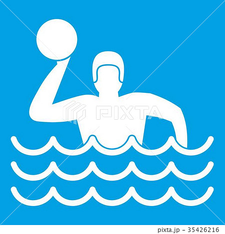 Water polo icon white 35426216