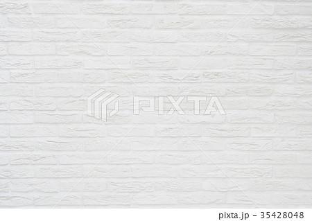 レンガ背景素材テクスチャー-白 35428048