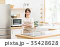 主婦 キッチン 台所の写真 35428628