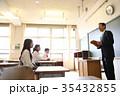 中学生 授業 人物の写真 35432855