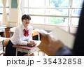 中学生 授業 人物の写真 35432858