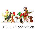 ベクター ペット 犬のイラスト 35434426