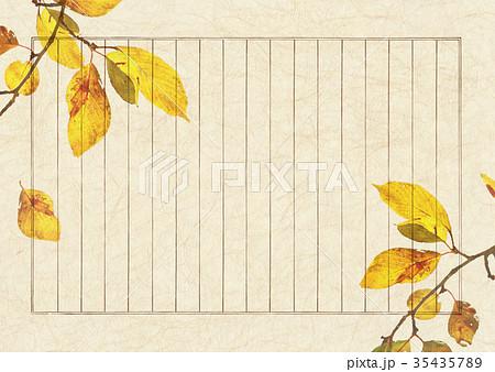 秋のおとずれ 縦書き便箋のイラスト素材 35435789 Pixta