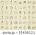 食 料理 食べ物のイラスト 35436121