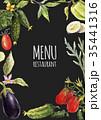 Watercolor menu template 35441316
