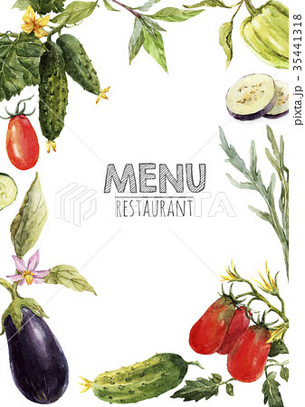 Watercolor menu template 35441318