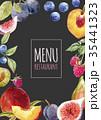 watercolor menu template 35441323