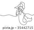 マーメイド マーメード 人魚のイラスト 35442715
