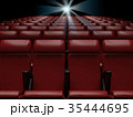 Empty  red seats  in cinema,3d rendering 35444695