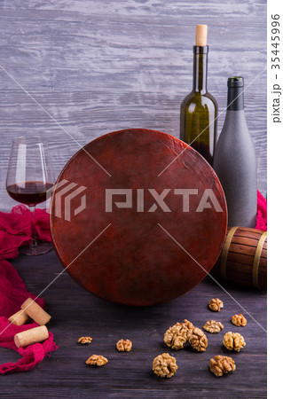 A cheese with taste of walnutsの写真素材 [35445996] - PIXTA
